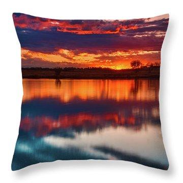 A Denver Dawn Throw Pillow by John De Bord