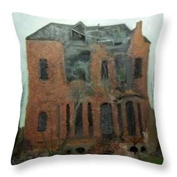 A Derelict House Throw Pillow