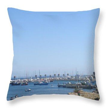 A Detail From Cascais Throw Pillow