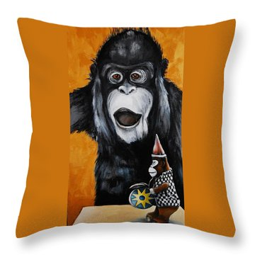 A Different Drummer Throw Pillow by Jean Cormier