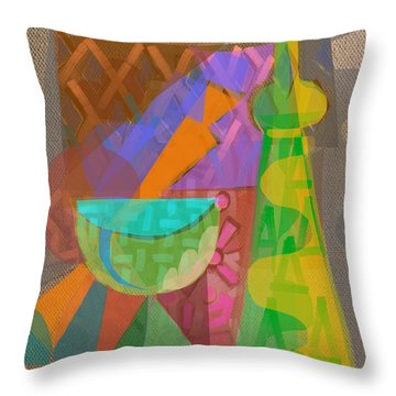 Throw Pillow featuring the digital art A Different Light by Clyde Semler