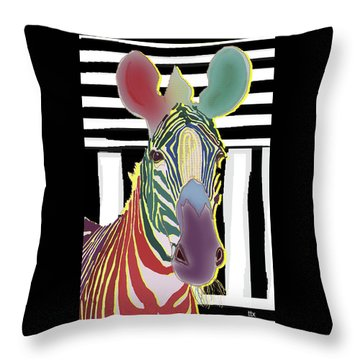 A Different Zebra Throw Pillow