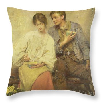 A Dinner Of Herbs  Throw Pillow by George William Joy