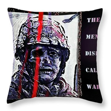 A Disease Called War Throw Pillow