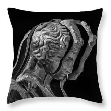 A Divided Mind Throw Pillow