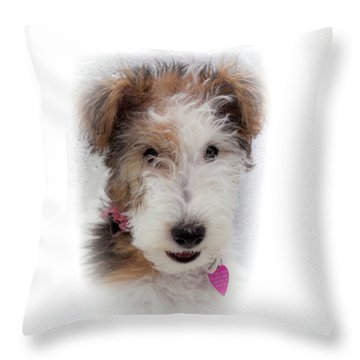 A Dog Named Butterfly Throw Pillow by Karen Wiles