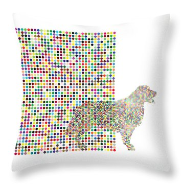 A Dog Waiting For The Ball Throw Pillow