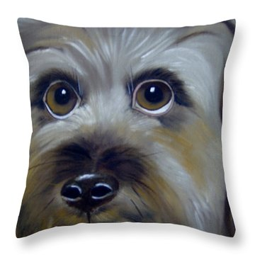 A Dog's Love Throw Pillow