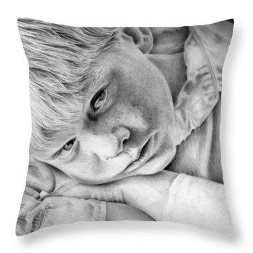 A Doleful Child Throw Pillow