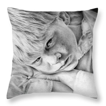 A Doleful Child Throw Pillow