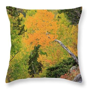 Yellow Drop Throw Pillow