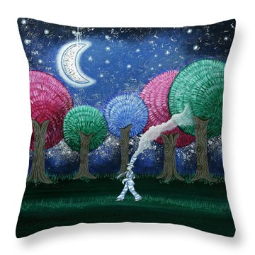 A Dream In The Forest Throw Pillow