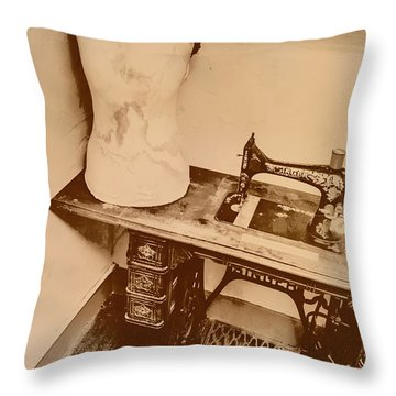 A Dressmakers Corner Throw Pillow