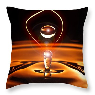 A Drop Of Light Throw Pillow