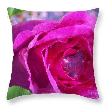 A Drop Of Love  2  Throw Pillow