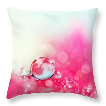 A Drop With Raspberrys And Cream Throw Pillow