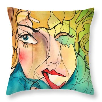 A Drowning Demise Throw Pillow