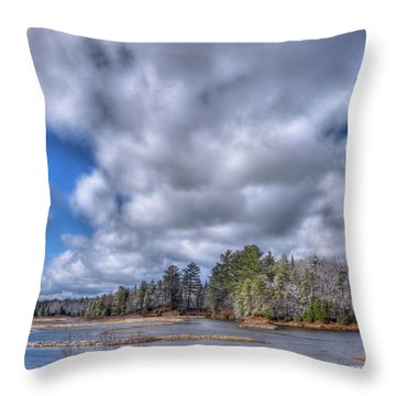 Throw Pillow featuring the photograph A Dusting Of Snow by David Patterson