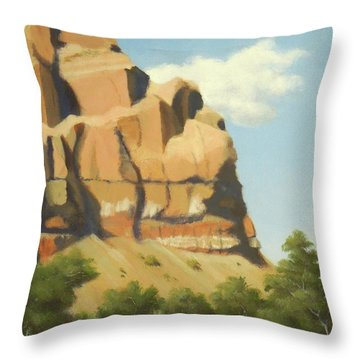 A Face In New Mexico Throw Pillow