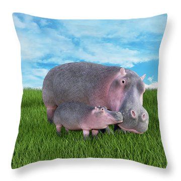 A Face Only A Momma Could Love Throw Pillow by Betsy Knapp