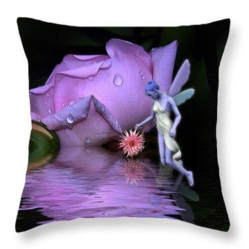 A Fairys World Throw Pillow