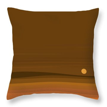 A Fall Moonrise Throw Pillow by Val Arie