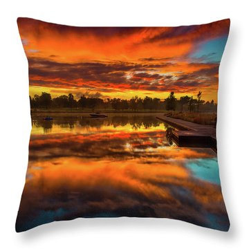 A Fall Sunrise Throw Pillow