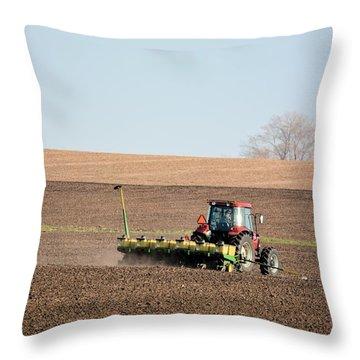 A Farmers Life Throw Pillow