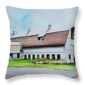 A Farmstand  In The Berkshires Throw Pillow