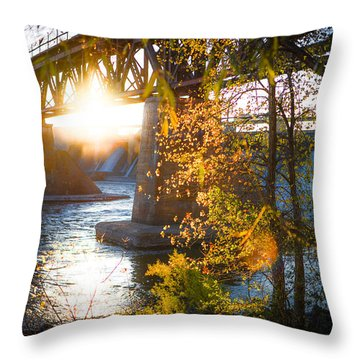 Blanchard Dam - A Favorite Place Throw Pillow
