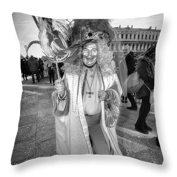 A Feathered Casanova  Throw Pillow by Jack Torcello