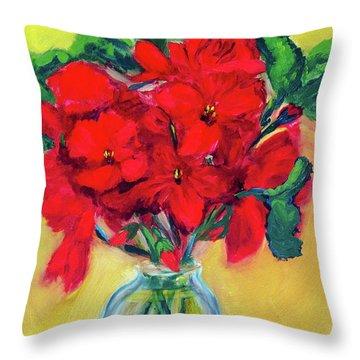 A Few More Geraniums Throw Pillow