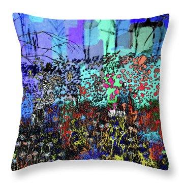 A Field Of Flowers Throw Pillow
