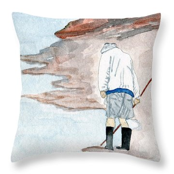 A Find - Agate Hunter Throw Pillow by R Kyllo