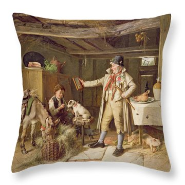 A Fine Attire Throw Pillow by Charles Hunt