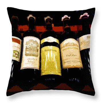A Fine Selection Throw Pillow by David Lee Thompson