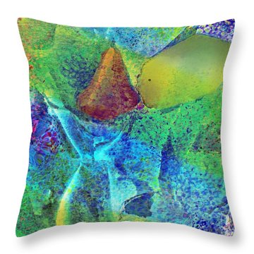 A Fish Kissing A Nose Throw Pillow