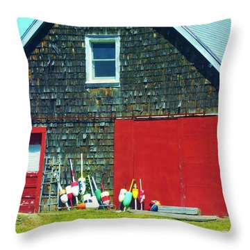 A Fisherman's Barn Throw Pillow