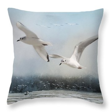 A Fishin' On The River Throw Pillow