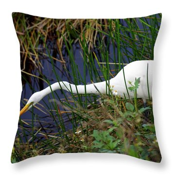 A Fishing We Will Go Throw Pillow by Marty Koch