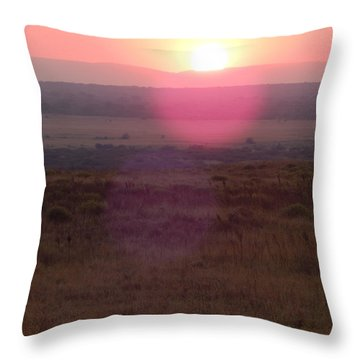 A Flare From South Africa Throw Pillow by Patrick Murphy