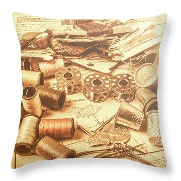 A Flare In Textile Repair Throw Pillow