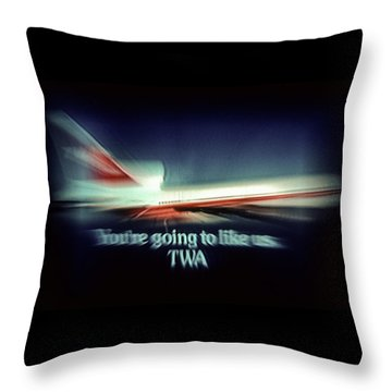 A Flight From The Past Throw Pillow