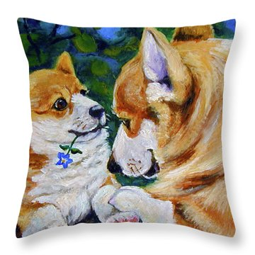 A Flower For Mom Throw Pillow