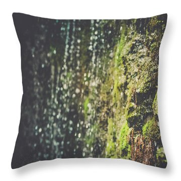 A Flowing Rock Throw Pillow