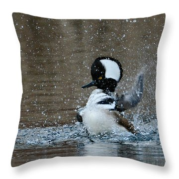 Throw Pillow featuring the photograph A Flurry Of Feathers by Fraida Gutovich