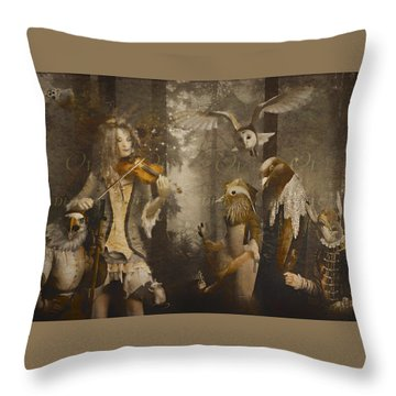 A Forest Overture Throw Pillow by Rosemary Smith