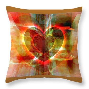 A Forgiving Heart Throw Pillow by Fania Simon
