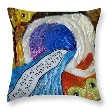A Fortunate Tea Throw Pillow
