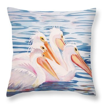 A Foursome Throw Pillow